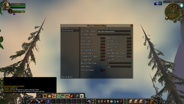In-game Settings - WRobot Plugin - By Ordush V1.1.2