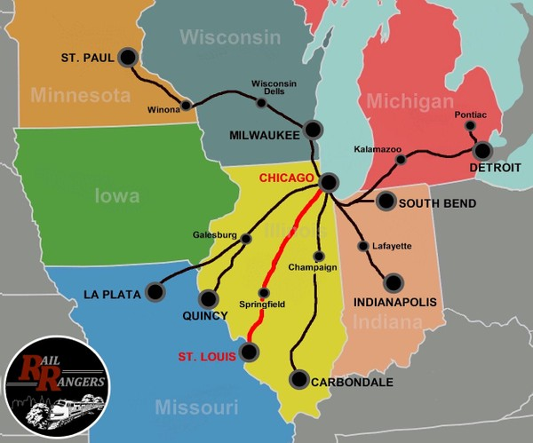 Midwest Rail Rangers Podcast: Chicago, IL to St. Louis, MO (SOUTHBOUND)