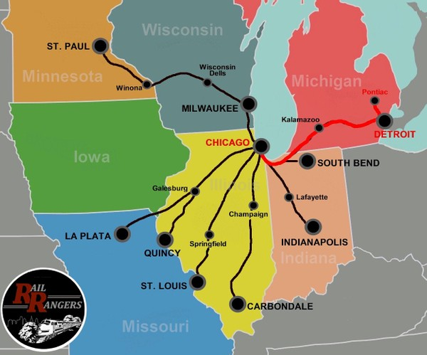 Midwest Rail Rangers Podcast: Chicago, IL to Detroit/Pontiac, MI (EASTBOUND)