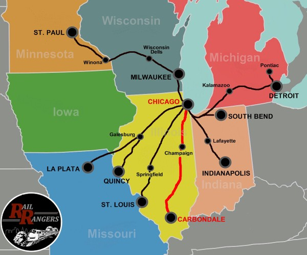 Midwest Rail Rangers Podcast: Carbondale, IL to Chicago, IL (NORTHBOUND)