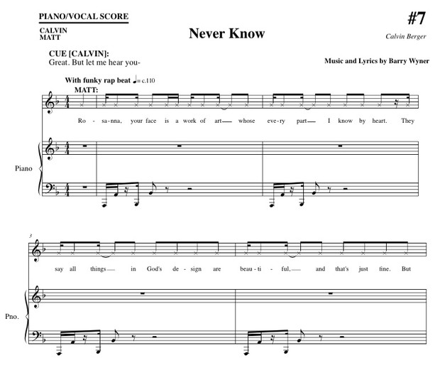 Never Know (from Calvin Berger)