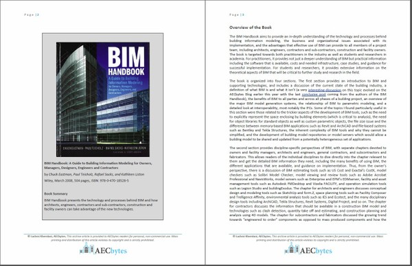 The BIM Handbook (Book Review)