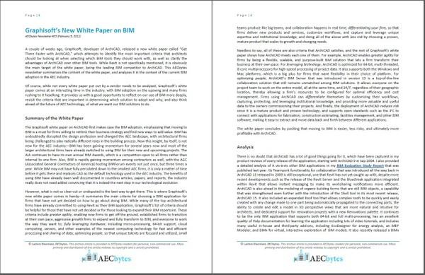 Graphisoft's New White Paper on BIM