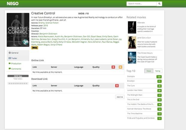 Movie Theme: Nego theme wordpress Automated import from tmdb !!