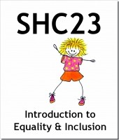 shc 23 introduction to equality Shc 23 introduction to equality and inclusion in health, social care or children's and young people's settings 2 2 20 competence r/601/5471 shc 24 introduction to duty of care in health, social care or children's and young people's settings 2 1 9 knowledge h/601/5474 total credits from these 4 units 9 75.