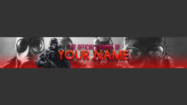 Tom Clancy's Rainbow Six Siege Channel Art Template [BY itsGrizzly]