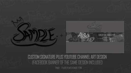 Custom Signature + Channel Art Design