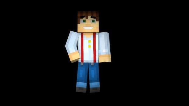 Cinema 4D - Minecraft Story Mode Character Rig V3