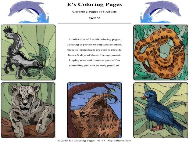 E's Coloring Pages - Set 9