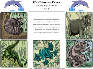E's Coloring Pages - Set 6