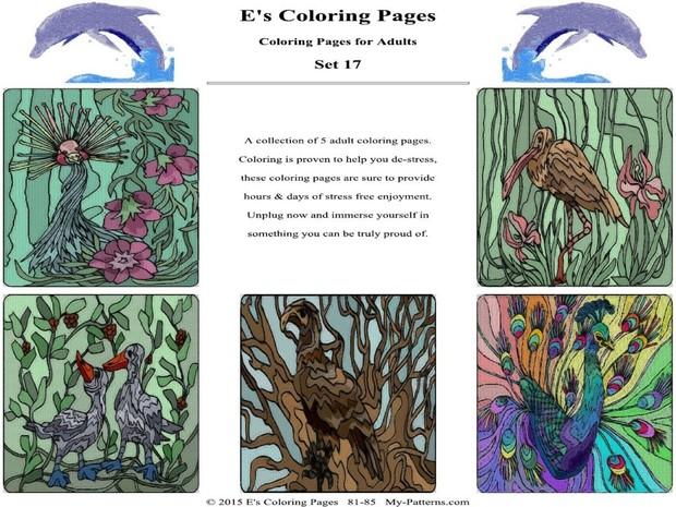 E's Coloring Pages - Set 17