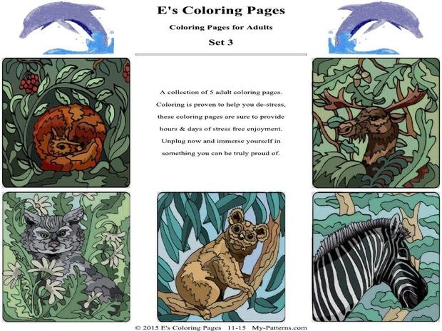 E's Coloring Pages - Set 3