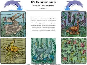 E's Coloring Pages - Set 15