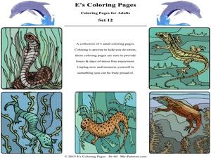 E's Coloring Pages - Set 12