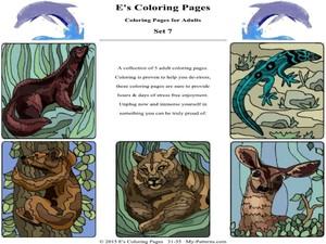 E's Coloring Pages - Set 7