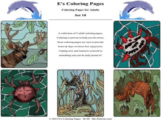 E's Coloring Pages - Set 10