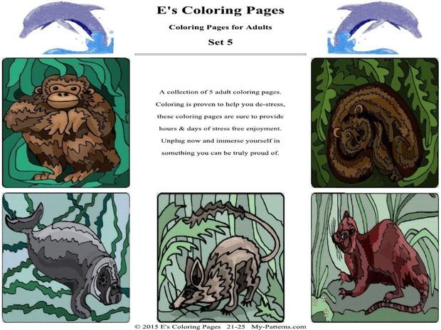 E's Coloring Pages - Set 5