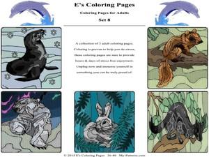 E's Coloring Pages - Set 8