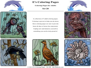 E's Coloring Pages - Set 20