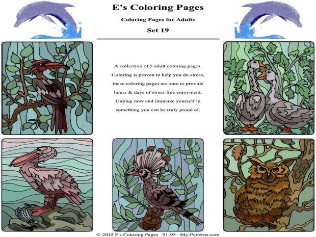 E's Coloring Pages - Set 19