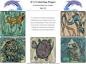 E's Coloring Pages - Set 13