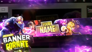 Banner Template Fornite