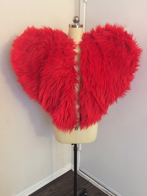 XL HEART FUR COAT