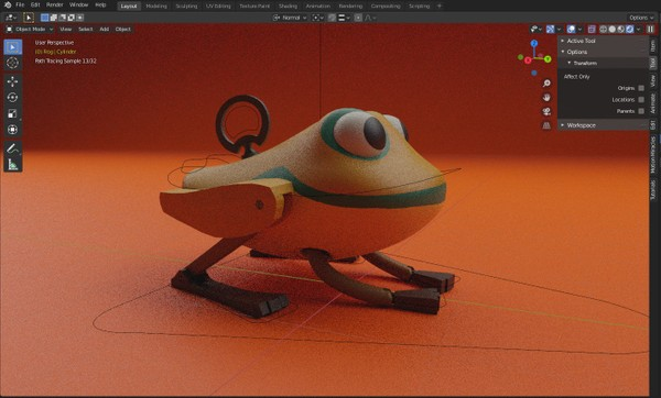 PROJECT FILE: Klaus Frog Jump Animation
