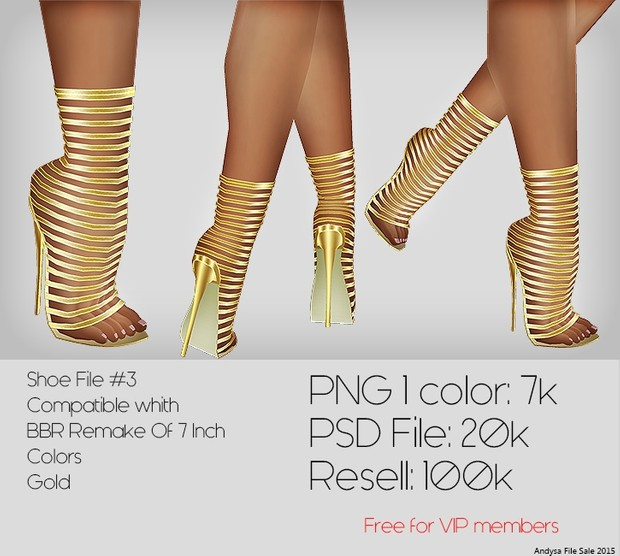IMVU TEXTURES Shoe File #3 PNG FILE  Compatible with: BBR Remake Of 7 Inch