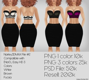 IMVU TEXTURES File #2 WHITE  Compatible with: (Nar) L Easy HD 3
