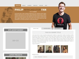 Premade 10: Soldier (Responsive; Wordpress/Coppermine)