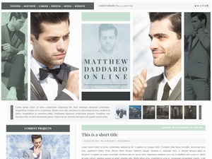 Premade 13: Handsome (Responsive; Wordpress/Coppermine)