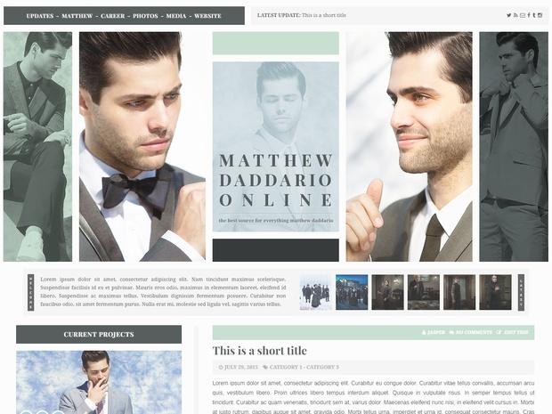 Premade 13: Handsome (Responsive; Wordpress/Coppermine)
