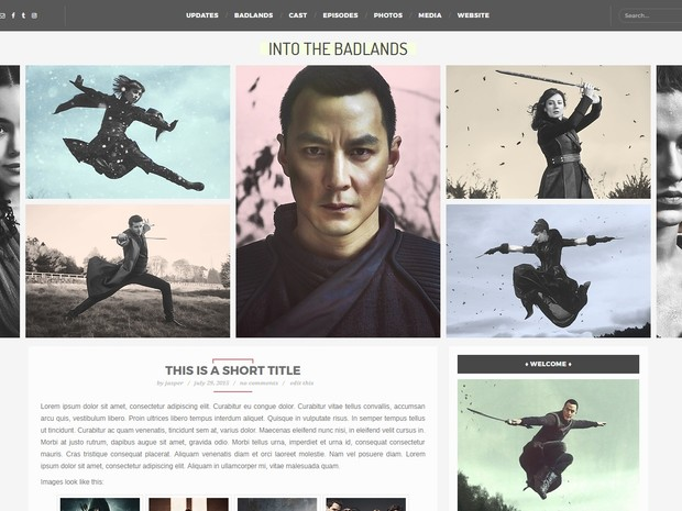 Premade 15: Badlands (Responsive; Wordpress/Coppermine)