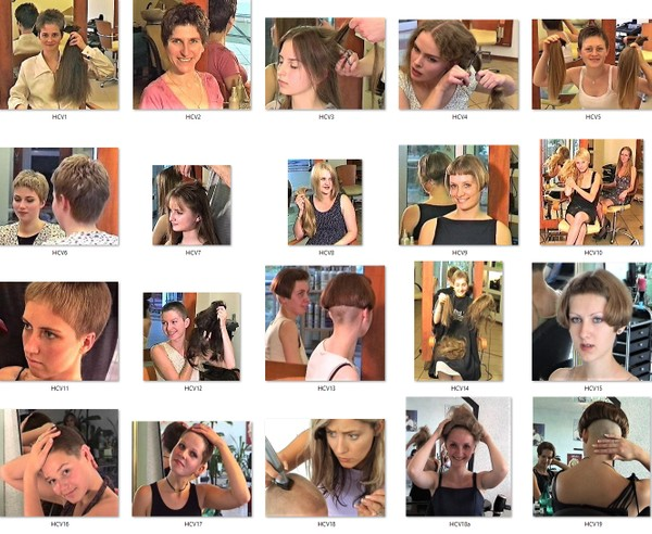 Ladies-Haircut: HCV1 - HCV19, Videos & Video-Material, © 2020 - Alle Rechte vorbehalten!