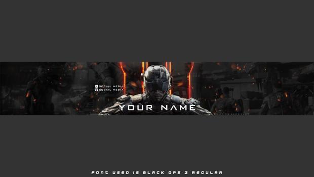 Black Ops 3 Banner Template Optimised For Adobe Phot Madebyghost