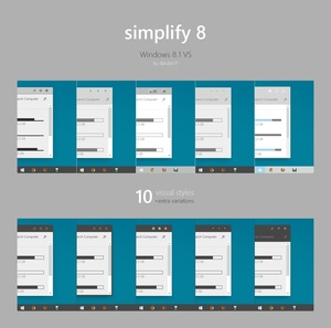 Simplify 8 - Windows 8.1 Theme Collection