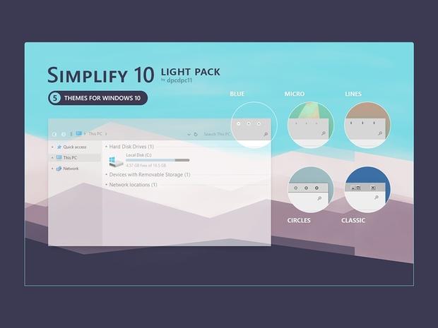 simplify 10 light windows 10 theme pack
