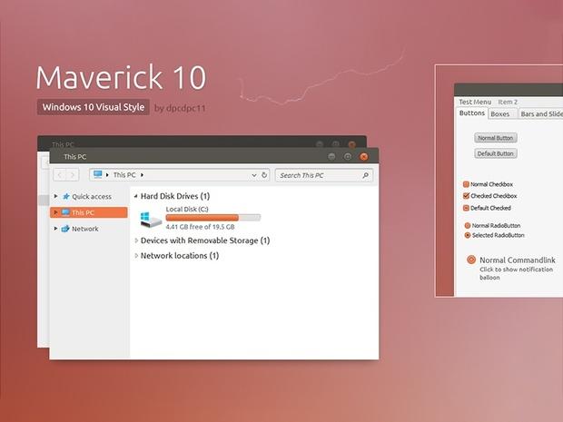 Maverick 10 - Windows 10 Theme