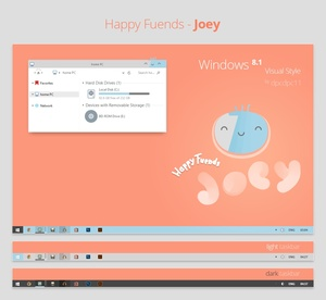 Happy Fuends: Joey - Windows 8.1 Theme