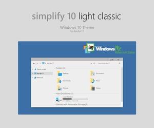 Simplify 10 Light Classic - Windows 10 Theme