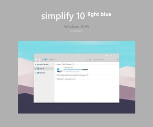 Simplify 10 Light Blue - Windows 10 Theme