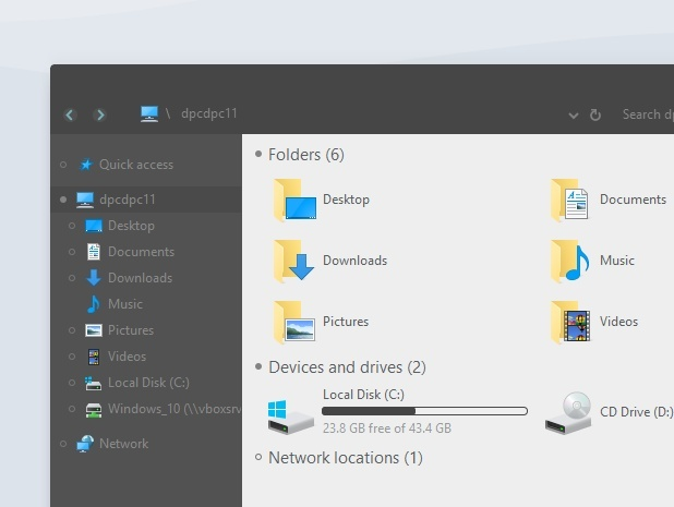 Simplify 10 Dark Colorful - Windows 10 Theme