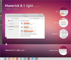 Maverick 8.1 Light - Windows 8.1 Theme