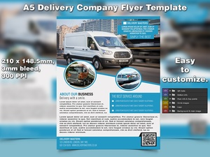 Delivery Business Flyer Template (A5, PSD)