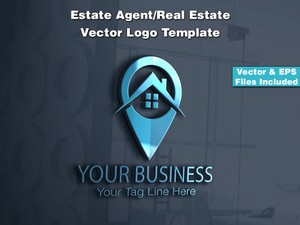 Estate Agent/Real Estate Vector Logo Template 4
