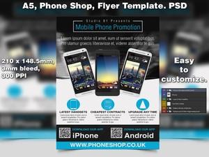 Phone Shop Promo Flyer Template (A5 PSD)