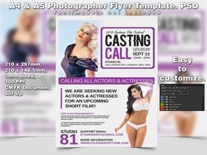 A4 & A5 Photographer PSD Flyer Template