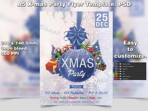 X-mas Flyer Template 2 (A5 PSD)