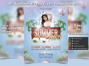 A5 Summer Event PSD Flyer Template 5